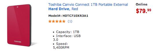 Toshiba External Hardrive