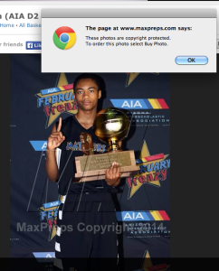 MaxPreps.com Copyright Warning